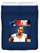 Tennis Player Sania Mirza Duvet Cover by Nishanth Gopinathan