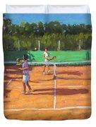 Tennis Practice Duvet Cover