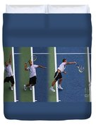 Tennis Serve By Mikhail Youzhny Duvet Cover