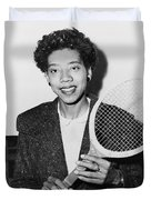 Tennis Star Althea Gibson Duvet Cover