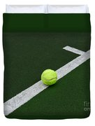 Tennis - The Baseline Duvet Cover