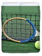 Tennis - Vintage Tennis Racquet Duvet Cover