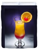 Tequila Sunrise Cocktail Duvet Cover