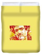 Terence Mckenna Watercolor Portrait.2 Duvet Cover