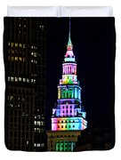 Terminal Tower Rainbow Duvet Cover