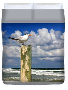 Tern On A Piling Duvet Cover