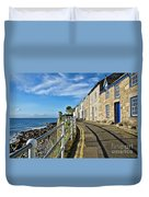 Terraced Cottages At Mousehole Duvet Cover