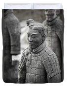Terracotta Army Warriors In Xian China Duvet Cover