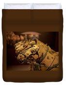 Terracotta Horses Duvet Cover