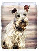 Terrier On Deck Duvet Cover
