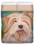 Terrier Portrait Duvet Cover