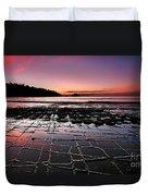 Tesselated Pavement Sunrise Duvet Cover