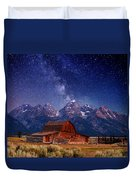 Teton Nights Duvet Cover by Darren  White