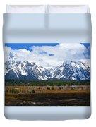 Teton Panorama I Right Panel Duvet Cover