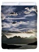 Teton Range Sunset Duvet Cover