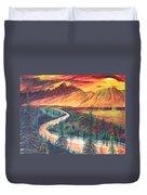 Teton Sunset Duvet Cover