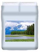 Tetons From Heron Pond In Grand Teton National Park-wyoming Duvet Cover