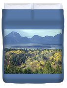1m9209-tetons From Signal Mountain, Wy Duvet Cover