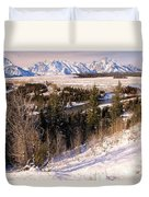 Tetons In The Distance Duvet Cover