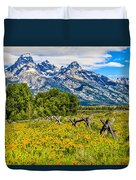 Tetons In The Spring Duvet Cover