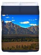 Tetons Mountians Duvet Cover