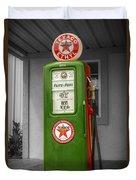 Texaco Gas Pump Duvet Cover