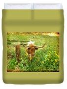 Texan Longhorn Duvet Cover