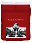 Texas A And M University - Dark Red Duvet Cover