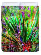 Texas Agave Pee Wee Plant Duvet Cover