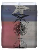 Texas Badge Patent On Texas Flag Duvet Cover