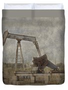 Texas Black Gold Duvet Cover