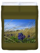 Texas Bluebonnet Center Of Attention Duvet Cover
