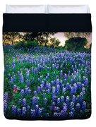 Texas Bluebonnet Field Duvet Cover