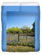 Texas Bluebonnet Lupine Pature Duvet Cover