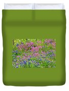 Texas Bluebonnets And Wildflowers Duvet Cover