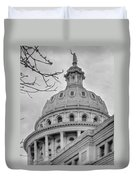 Texas Capital Dome In Monochrome Duvet Cover