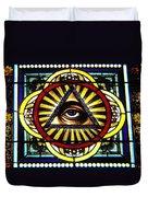 Eye Of Providence Texas Church Window Duvet Cover