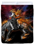 Texas Ghost Rider Duvet Cover