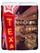 Texas In Lights Duvet Cover