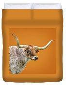Texas Longhorn Steer Duvet Cover