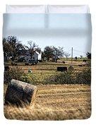 Texas Ranch Scene Duvet Cover