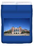 Texas Rangers Ballpark In Arlington Duvet Cover by Frank Romeo