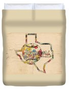 Texas Rangers Logo Vintage Duvet Cover