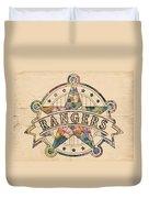 Texas Rangers Poster Art Duvet Cover