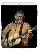 Texas Singer Songwriter Guy Clark In Concert Duvet Cover