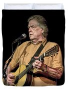 Texas Singer Songwriter Guy Clark Duvet Cover