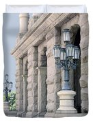 Texas State Capitol North Portico Duvet Cover