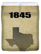Texas Statehood 2 Duvet Cover