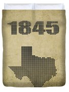 Texas Statehood Duvet Cover
