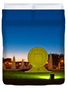 Texas Tech Seal At Night Duvet Cover